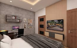 Living Room : modern Bedroom by Regalias India Interiors & Infrastructure