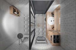 Квартира 55 кв.м. в старом доме на Кожуховской в скандинавском стиле: Ванные комнаты в . Автор – Студия архитектуры и дизайна Дарьи Ельниковой
