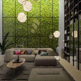 Diseño de Interior: Salas / Living.: Salas de estilo moderno por Mexikan Curious