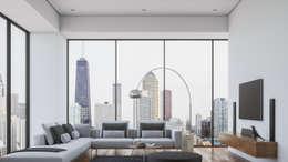 Diseño de Interior: Salas / Living.: Salas de estilo minimalista por Mexikan Curious