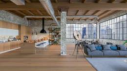 Diseño de Interior: Depas / Lofts.: Salas de estilo industrial por Mexikan Curious