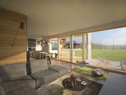 Projekty,  Salon zaprojektowane przez AL ARCHITEKT