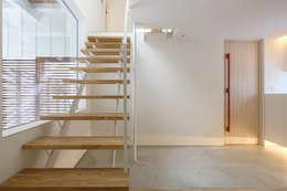山の手コートハウス: 一級建築士事務所 Atelier Casaが手掛けた階段です。