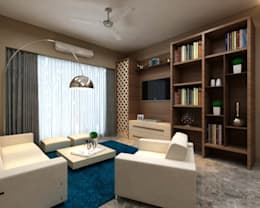 Borivali Residence: asian Living room by Midas Dezign