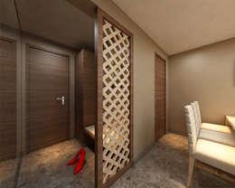 Borivali Residence:  Corridor & hallway by Midas Dezign