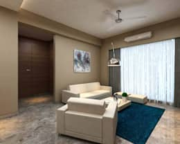 Borivali Residence: asian Living room by Midas Dezign
