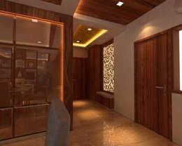 Ashish Rai Residence:  Corridor & hallway by Midas Dezign