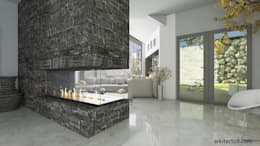 Couloir et hall d'entrée de style  par arkitecto9.com