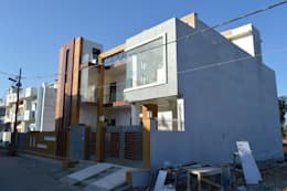 Building - Exterior : modern Houses by Incense interior exterior pvt Ltd.
