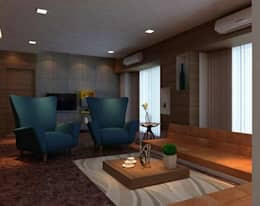 Dr. Deshmukh : modern Living room by New Space Interior