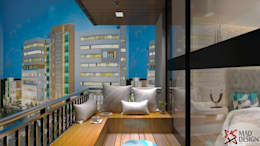 Apartment Project @Palm terrace drives by MAD DESIGN: industrial Garden by MAD DESIGN