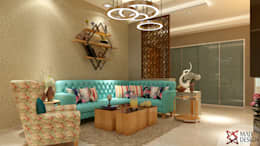 Apartment Project @Palm terrace drives by MAD DESIGN: scandinavian Living room by MAD DESIGN