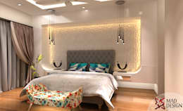 3bhk Apartment Project - Palm terrace drive Gurgaon by MAD DESIGN: scandinavian Bedroom by MAD DESIGN