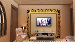 Project Guest House @HauzKhasVillage by MAD DESIGN: colonial Media room by MAD DESIGN