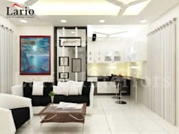 The best interiors in omr:  Living room by Lario interiors