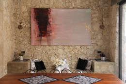 Villa Cherie: Comedores de estilo rústico por CO-TA ARQUITECTURA