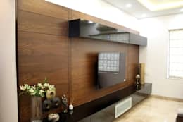 3BHK at Kalyani Nagar: modern Living room by Finch Architects