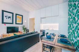 Rua Cor de Rosa - T1 : Sala de jantar  por YS PROJECT DESIGN