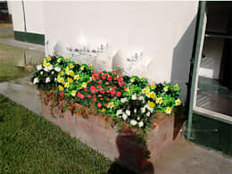 Jardinera con Plantas: Jardines de estilo rural por Vida Verde