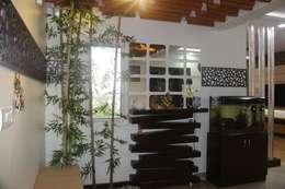 Salarpuria Gold Summit: modern Living room by Pebblewood.in