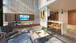 Thiết kế Nội thất:  Phòng khách by AT Design