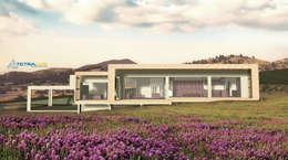 Los Laureles I y II: Casas de estilo mediterraneo por Tetralux Arquitectos