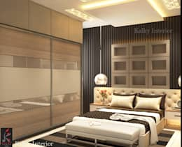 Master bedroom: modern Bedroom by kalky interior