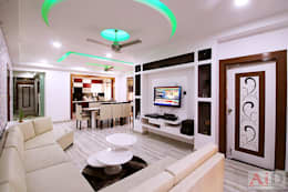 Residence in Indirapuram: modern Living room by Archint Designs Pvt. Ltd.