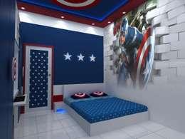 Captain America theme: modern Bedroom by Creative Focus