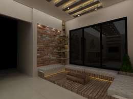 rustic Living room by Creative Focus