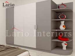 Wardrobe:  Bedroom by Lario interiors