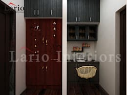 Pooja unit:  Living room by Lario interiors