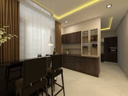 Crockery unit:  Corridor & hallway by Regalias India Interiors & Infrastructure