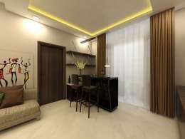 Bar Area:  Corridor & hallway by Regalias India Interiors & Infrastructure