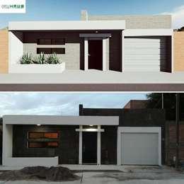 Casas de estilo minimalista por OmaHaus Arquitectos