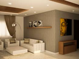 Simple living area : asian Living room by NVT Quality Build solution