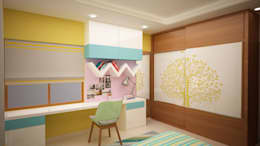 Kids room study table : asian Nursery/kid's room by NVT Quality Build solution