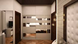 Wardrobe with loft - Sliding type : asian Dressing room by NVT Quality Build solution