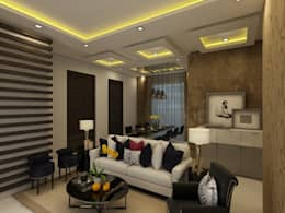 Living: modern Living room by Regalias India Interiors & Infrastructure