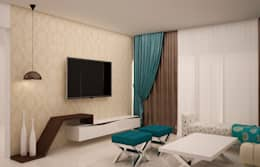 Home theater : modern Media room by NVT Quality Build solution