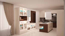 Full storage and island kitchen : modern Kitchen by NVT Quality Build solution