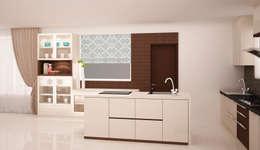 Island Kitchen : modern Kitchen by NVT Quality Build solution
