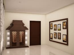 Puja area :  Corridor & hallway by NVT Quality Build solution