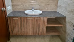Under sink counter : modern Bathroom by NVT Quality Build solution