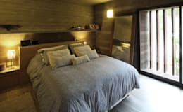 Casa S & S: Dormitorios de estilo minimalista por Besonías Almeida arquitectos
