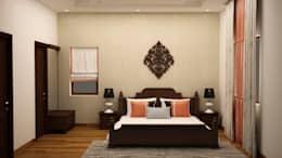 Headboard design : asian Bedroom by NVT Quality Build solution