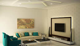 Home theater : asian Media room by NVT Quality Build solution
