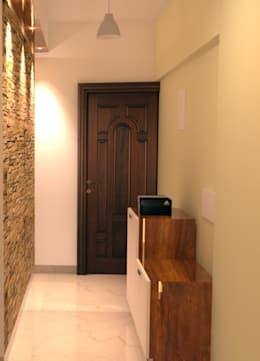 Amanora Park Pune - Pent House:  Corridor & hallway by DECOR DREAMS