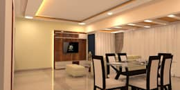 Amanora Park Pune - Pent House: modern Living room by DECOR DREAMS