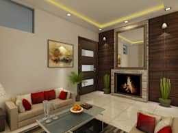 Drawing Room: modern Living room by Regalias India Interiors & Infrastructure